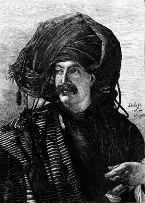Adrien Dauzats - Posthumous portrait of Dauzats by Loÿs Delteil