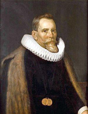 Aelius Everhardus Vorstius - Portrait of Aelius Everhardus Vorstius by Joris van Schooten
