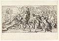 Aeneas en zijn familie vluchten uit Troje Eripit Aeneas humeris ex hoste Parentem (titel op object) Omzwervingen van Aeneas (serietitel) L'Enea Vagante pitture dei Caracci (serietitel), RP-P-H-E-96.jpg