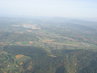 Aigues-Vives, Ariège - View of Aigues-Vives, Léran and the Lac de Montbel