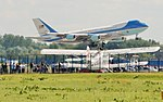 Air Force One landing at Warsaw Frederic Chopin Airport.jpg