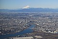 Airborne imagery Mt. Fuji and Tokyo (4277464103).jpg