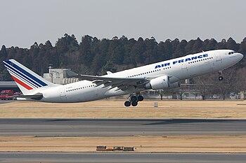 English: Air France Airbus A330-200 F-GZCH dep...