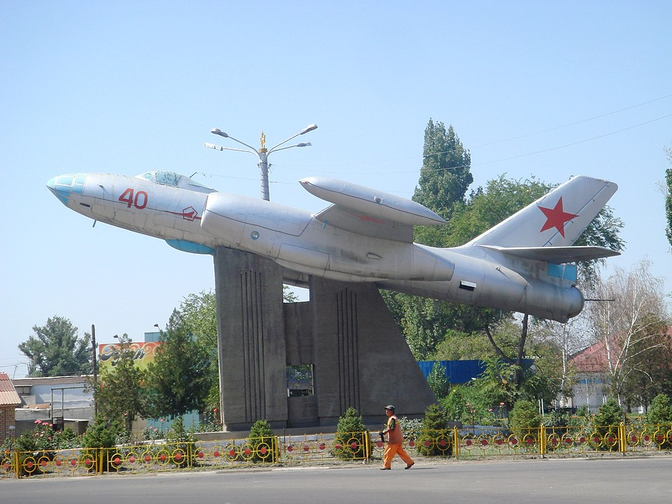 Airplane monument in Tokmok