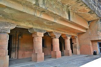 Ajanta Caves - Ajanta Caves have been carved into a massive rock of the Deccan plateau. Cave 24.