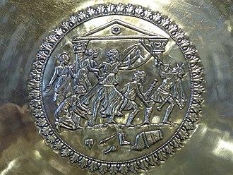 Seuso Treasure - Detail of the Achilles plate