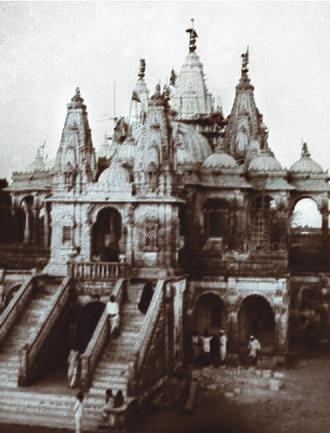 Akshar Deri - Akshar Mandir shortly after it was consecrated, in Gondal, India