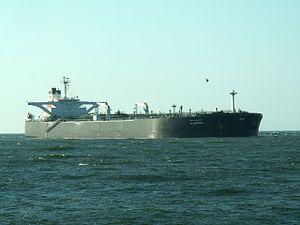 Al Shuhadaa - Kuwait - IMO 9013311 - Callsign 9KKH p1 approaching Port of Rotterdam at sunset, Holland 15-Jul-2006.jpg