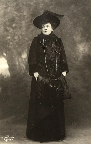 Alva Belmont - Alva E. Belmont sometime during 1911, aged 57–58.