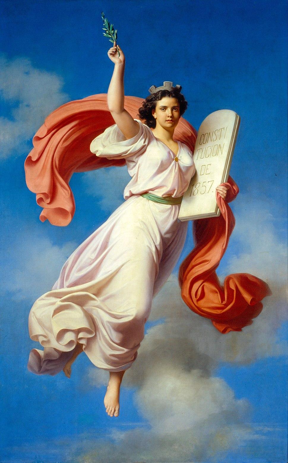 Alegoría de la Constitución de 1857