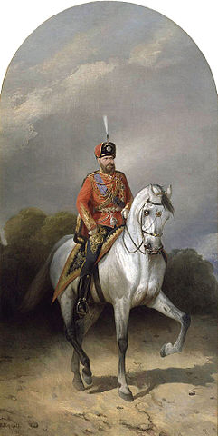 Император Александр IIIв мундире лейб-гвардииГусарского полка, Н.Сверчков