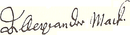 Alexander Mack's signature