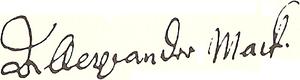 Alexander Mack - Image: Alexander Mack signature