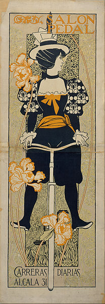 RIQUER Alexandre de Salon Pedal 1897