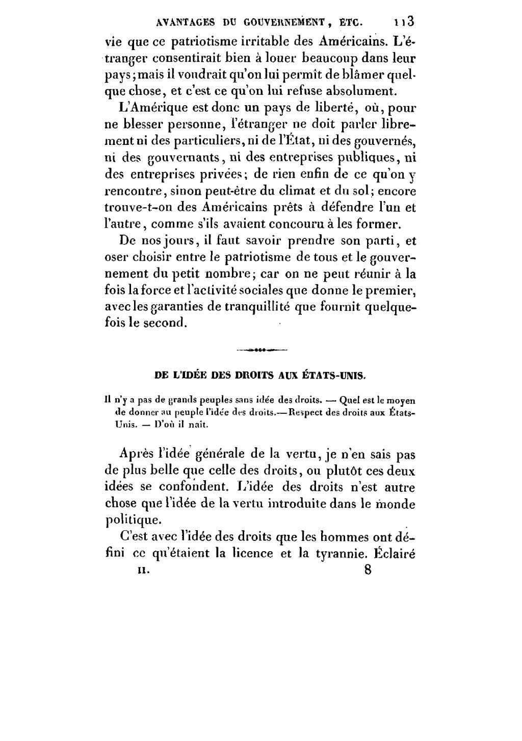 Page Alexis De Tocqueville De La Democratie En Amerique Pagnerre