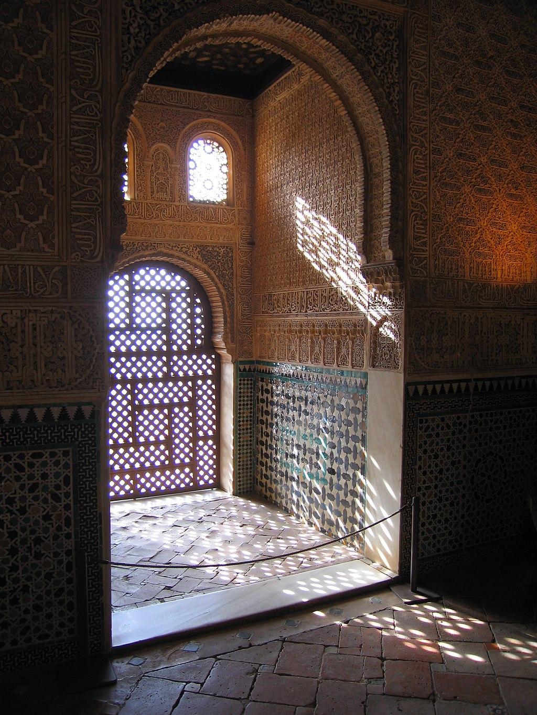 Luces y sombras en el Salón de Embajadores. Palacio de Comares