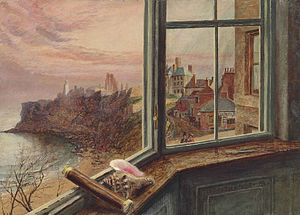 Alice Boyd - Alice Boyd, View from the Window of Balcony House, Tynemouth, oil on cardboard, 1864