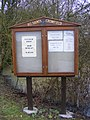 All Saints Church Notice Board, Crowfield - geograph.org.uk - 1723750.jpg