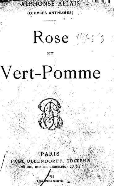 File:Allais - Rose et Vert-Pomme.djvu