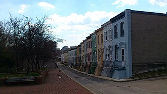 Upton, Baltimore - Alley rowhouses in Southeast Upton
