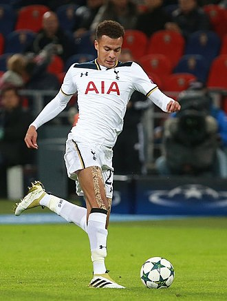 Dele Alli - Alli playing for Tottenham Hotspur in 2016