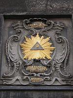 Das Allsehende Auge am Aachener Dom