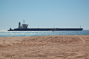 Alpha Millennium departs Port Hedland, 2012 (2).JPG