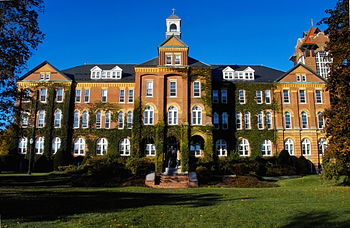 Saint Anselm College's Alumni Hall, built in 1...