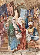 Amadeo Preziosi - The Silk Bazaar - Google Art Project