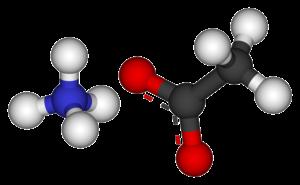 Ammonium acetate - Image: Ammonium acetate 3D balls