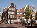 Amsterdam, Herengracht buitenkant bij Brouwersgracht grachtenpanden foto1.JPG