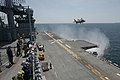 An F-35B Lightning II aircraft is tested aboard USS Wasp. (17318545423).jpg
