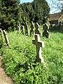 An overgrown churchyard at St Peter's, West Liss - geograph.org.uk - 1273300.jpg