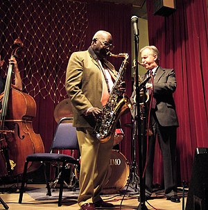 Scott Hamilton (musician) - Andy Hamilton and Scott Hamilton in March 2007. Photo by Dick Jones