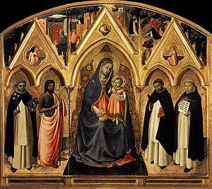 San Pietro Martire Triptych - Image: Angelico, pala di san pier maggiore, 1425 ca