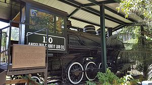 Angelina and Neches River Railroad - Image: Angelina County Lumber Company 110