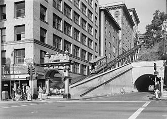 Angels Flight - Angels Flight; 1960, L.o.C. Historic American Buildings Survey (HABS)
