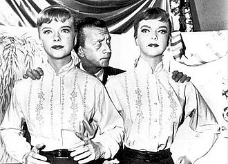 The After Hours - Publicity photo of (l-r) Anne Francis, James Millhollin and Francis's mannequin double