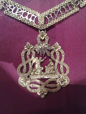 Supreme Order of the Most Holy Annunciation - Modern badge of the order.