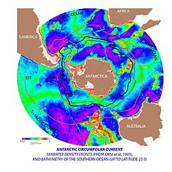 Southern ocean wikipedia the antarctic circumpolar current acc is the strongest current system in the world oceans linking the atlantic indian and pacific basins gumiabroncs Gallery