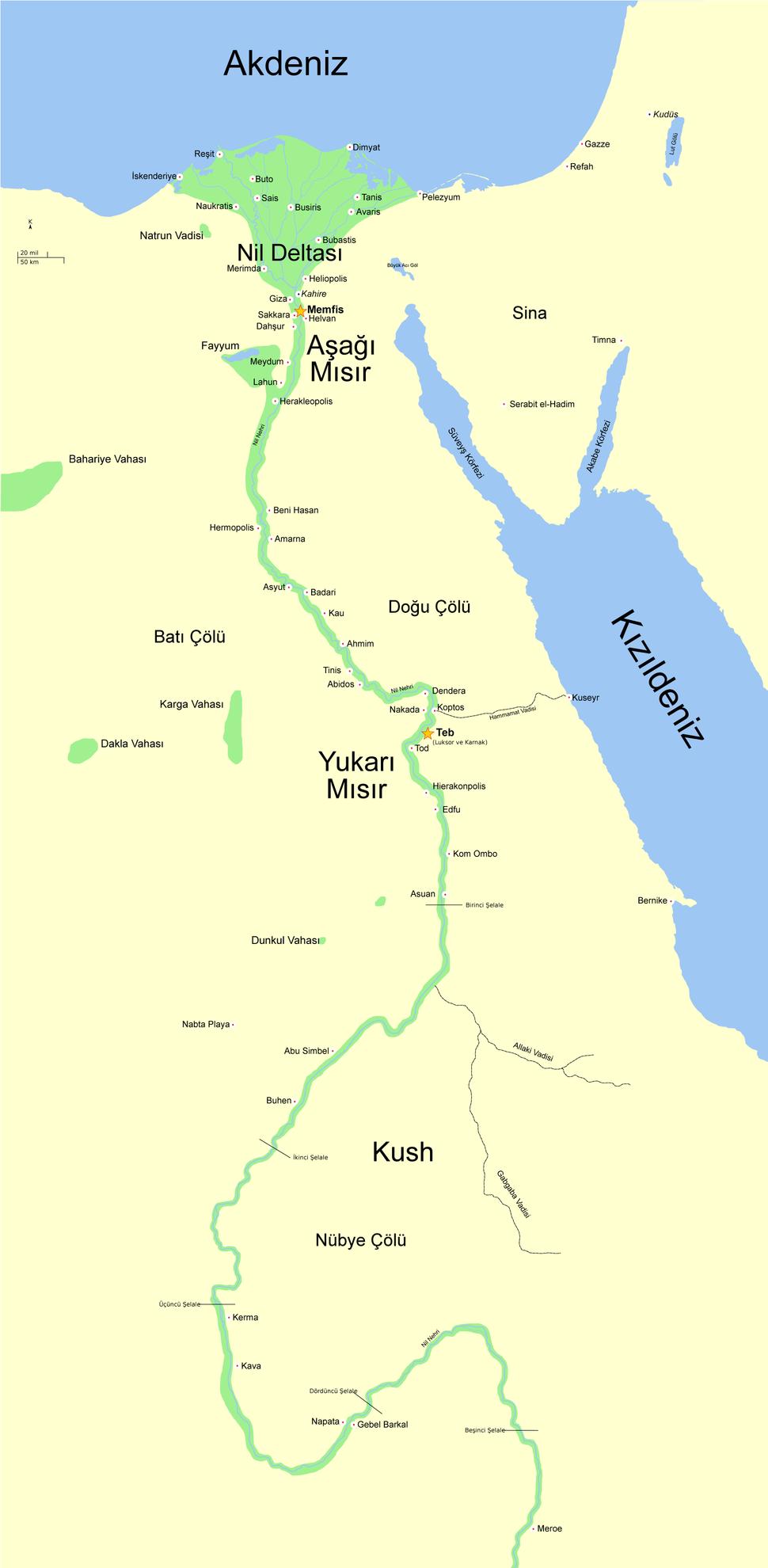 Antik Mısır haritası