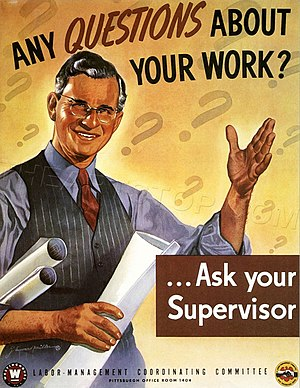 Supervisor - A 1940s poster from the United States
