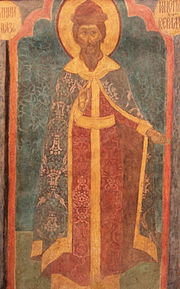 File:Archangel Cathedral - NE column, 1st lev., south - Konstantin Vsevolodovich.jpg