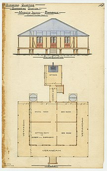 Magnetic Island-European settlement and development-Architectural drawing of the Surgeon's Quarters, Quarantine Station, Magnetic Island, 1886