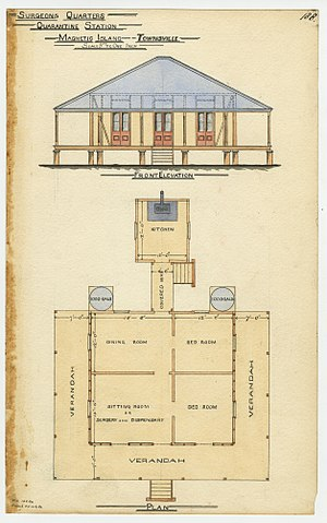 Magnetic Island - Plans for Surgeon's Quarters at the Quarantine Station, 1886