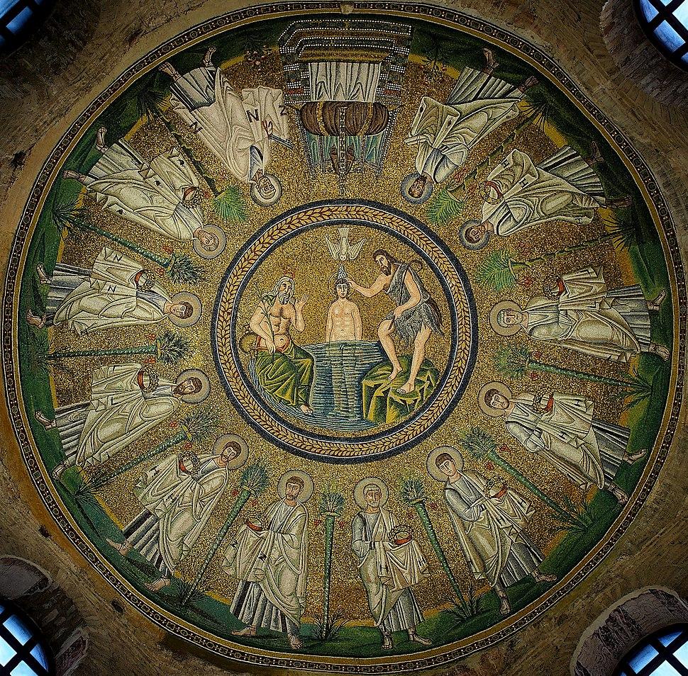 Arian Baptistry ceiling mosaic - Ravenna