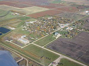 Gretna, Manitoba - Aerial view of Gretna