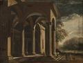 Arkitekturfantasi, palats i landskap (Ottavio Viviani) - Nationalmuseum - 96739.tif