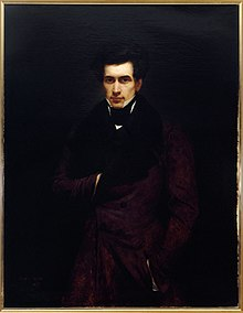 Three-quarter length painted portrait of a man