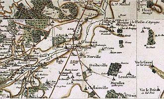 Arpajon - Map of Arpajon according to Cassini